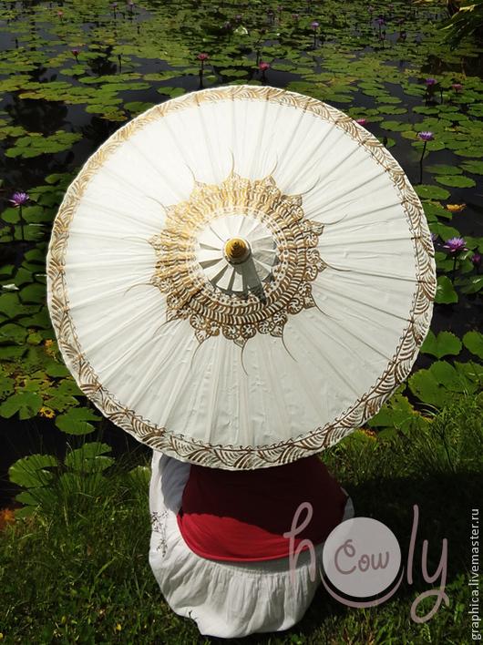 """Зонты ручной работы. Ярмарка Мастеров - ручная работа. Купить Расписной традиционный тайский зонт """"Thai Tradition"""". Handmade. Зонт"""