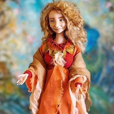 Куклы и игрушки ручной работы. Ярмарка Мастеров - ручная работа С радостью, авторская кукла. Handmade.