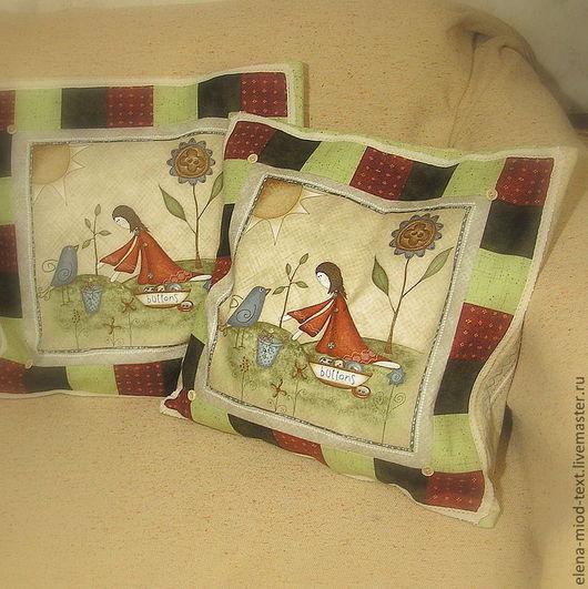 """Текстиль, ковры ручной работы. Ярмарка Мастеров - ручная работа. Купить Чехлы на подушки """"Sewing-maid"""". Handmade. Чехол на подушку"""