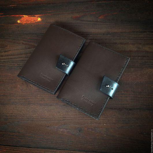 Обложки ручной работы. Ярмарка Мастеров - ручная работа. Купить Кожаная обложка для паспорта. Handmade. Коричневый, паспорт обложка