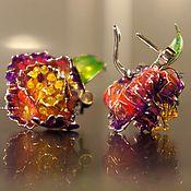 Украшения handmade. Livemaster - original item Collectible silver earrings