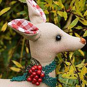 Куклы и игрушки ручной работы. Ярмарка Мастеров - ручная работа Новогодний олененок в стиле тильда. Handmade.