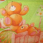 """Работы для детей, ручной работы. Ярмарка Мастеров - ручная работа Комплект постельного белья """"Мишкина семья"""" из бязи. Handmade."""