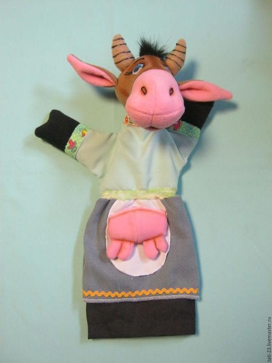 Кукольный театр ручной работы. Ярмарка Мастеров - ручная работа. Купить Корова МУ-У. Перчаточная кукла.. Handmade. Комбинированный