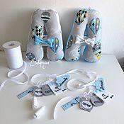 Комплекты одежды ручной работы. Ярмарка Мастеров - ручная работа Буквы подушки с метрикой. Handmade.
