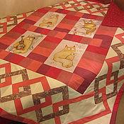 лоскутное одеяло с принтом и орнаментом