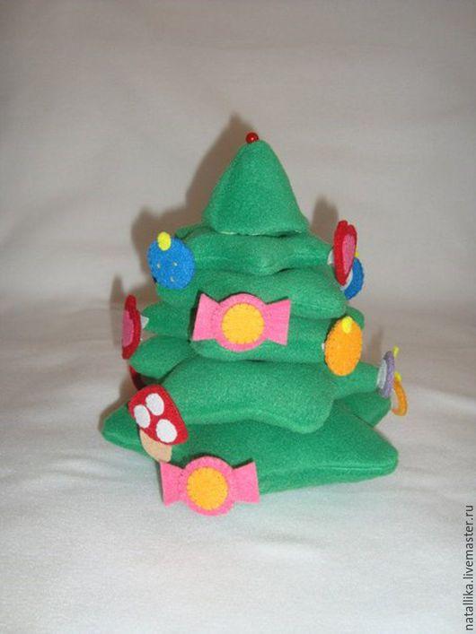 Развивающие игрушки ручной работы. Ярмарка Мастеров - ручная работа. Купить Пирамидка Елочка. Handmade. Развивающая, пирамидка, елочка, подарок