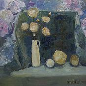 Картины и панно ручной работы. Ярмарка Мастеров - ручная работа бежевые розы. Handmade.