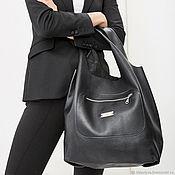 Сумки и аксессуары handmade. Livemaster - original item Bag Pack black leather Pouch Bag medium shopper t-shirt Bags. Handmade.