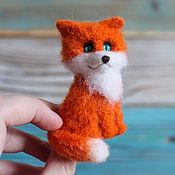 Украшения handmade. Livemaster - original item Fox brooch made of wool. Handmade.