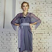 Одежда ручной работы. Ярмарка Мастеров - ручная работа Платье из шифона Звезда сиреневое. Handmade.
