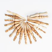 Деревянные вязальные крючки Набор (2,5-15мм) - 17шт #KN11