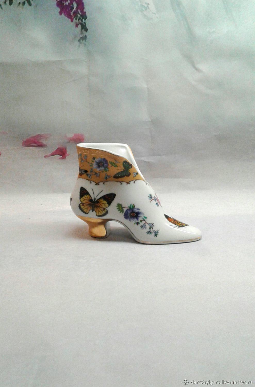 Винтаж: Статуэтка фарфоровая туфелька.Англия , Винтажные предметы интерьера, Рига,  Фото №1