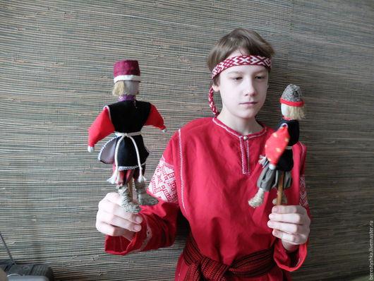 Народные куклы ручной работы. Ярмарка Мастеров - ручная работа. Купить Кулачники. Handmade. Подарок для мальчика, игрушка для мальчика, лён