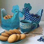 Для дома и интерьера handmade. Livemaster - original item hen rooster basket textile. Handmade.