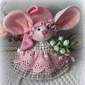 Куклы и игрушки handmade. Livemaster - original item Mouse - baby with big ears. Handmade.