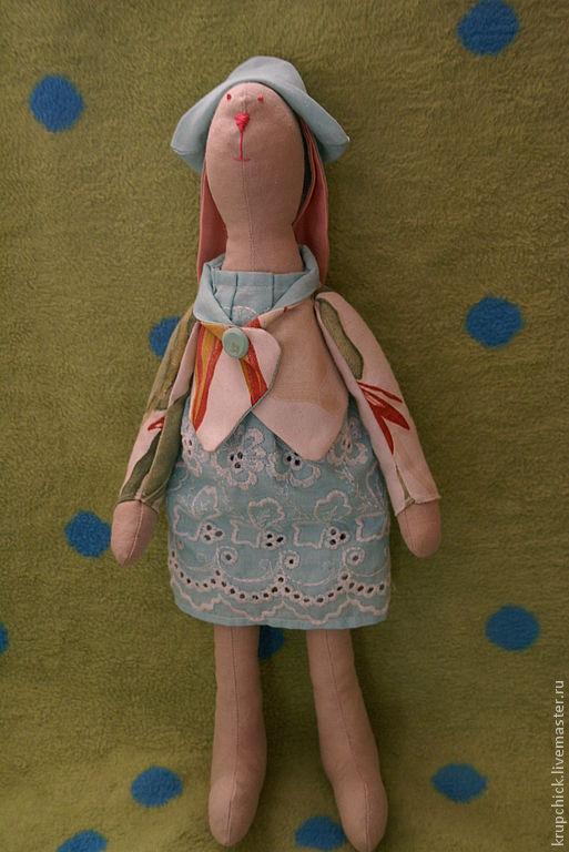 Куклы Тильды ручной работы. Ярмарка Мастеров - ручная работа. Купить Тильда Заяц Рита. Handmade. Заяц, игрушка заяц