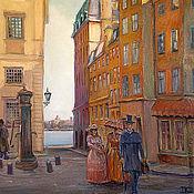 Картины и панно ручной работы. Ярмарка Мастеров - ручная работа Старый город. Стокгольм. Handmade.