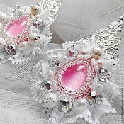 Свадебный салон handmade. Livemaster - original item Earrings Flamingo. Handmade.
