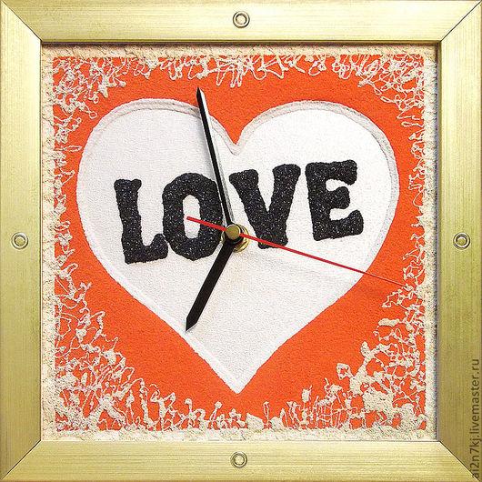 """Подарки для влюбленных ручной работы. Ярмарка Мастеров - ручная работа. Купить """"ЛЮБЯЩЕЕ СЕРДЦЕ"""" из песка часы авторские. Handmade."""