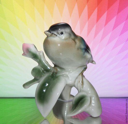 Винтажные предметы интерьера. Ярмарка Мастеров - ручная работа. Купить Птица на ветке Bavaria Германия 1. Handmade. Разноцветный, птица