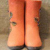 Обувь ручной работы. Ярмарка Мастеров - ручная работа Оранжевое настроение. Handmade.