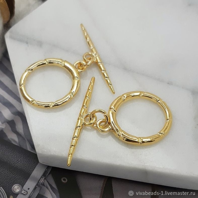 Toggle Lock Ring 19mm Gold Plated (5178), Accessories4, Voronezh,  Фото №1