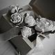 """Свадебные украшения ручной работы. Заказать Комплект свадебный """"Белоснежные розы"""". Надежда (deco-flowers). Ярмарка Мастеров."""
