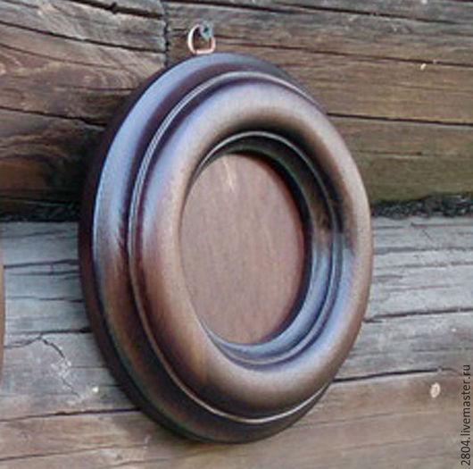 Фоторамки ручной работы. Ярмарка Мастеров - ручная работа. Купить Рамка для фото № 38 круглая деревянная ручной работы Фоторамка. Handmade.