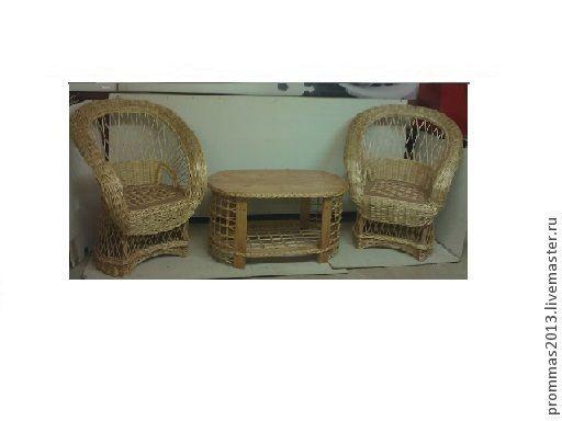 Мебель ручной работы. Ярмарка Мастеров - ручная работа. Купить комплект ива. Handmade. Золотой, для столовой, натуральные материалы