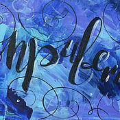 """Картины и панно ручной работы. Ярмарка Мастеров - ручная работа Картина акрилом """"Привет"""". Handmade."""