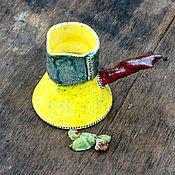"""Посуда ручной работы. Ярмарка Мастеров - ручная работа Турка """" Жёлтый песок"""". Handmade."""