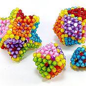 Куклы и игрушки ручной работы. Ярмарка Мастеров - ручная работа Набор геометрических игрушек сплетенных из бусин и вощеной нити. Handmade.