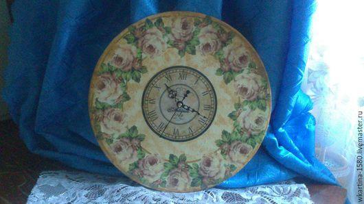 """Часы для дома ручной работы. Ярмарка Мастеров - ручная работа. Купить Часы """" Шебби шик"""". Handmade. Бежевый"""