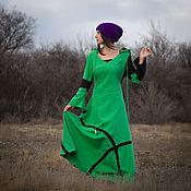 Одежда ручной работы. Ярмарка Мастеров - ручная работа Эльфийское платье Absinthe. Handmade.