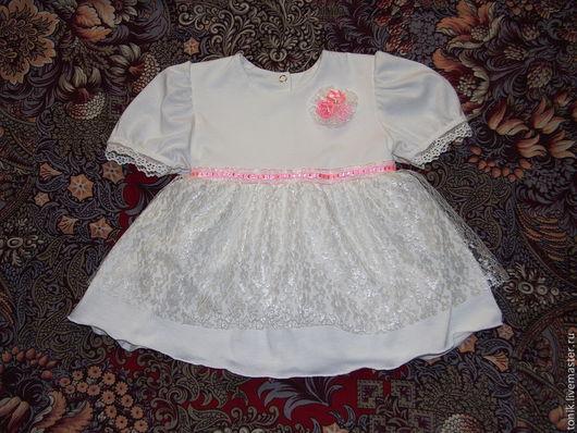 Одежда для девочек, ручной работы. Ярмарка Мастеров - ручная работа. Купить Платье Маленькая Принцесса. Handmade. Белый, платье для девочки