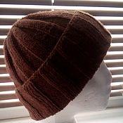 Аксессуары handmade. Livemaster - original item Hat knitted unisex, brown. Handmade.