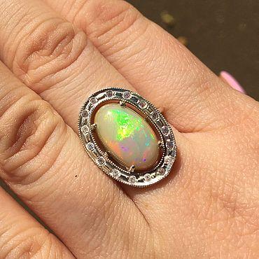 """Украшения ручной работы. Ярмарка Мастеров - ручная работа Кольца: """" Анна"""" кольцо с опалом Эфиопии. Handmade."""