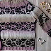 Sweaters handmade. Livemaster - original item Women`s knitted cancan sweater. Handmade.