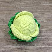 Кукольная еда ручной работы. Ярмарка Мастеров - ручная работа Вязаные овощи - КАПУСТА. Handmade.