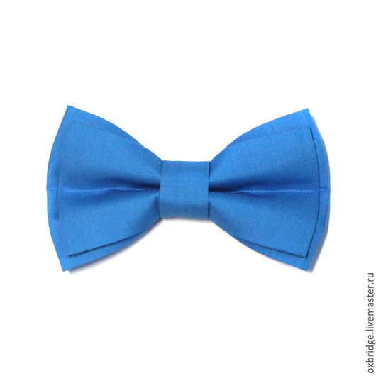 Галстуки, бабочки ручной работы. Ярмарка Мастеров - ручная работа. Купить Галстук-бабочка ярко-голубой из хлопка. Handmade.