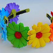 """Работы для детей, ручной работы. Ярмарка Мастеров - ручная работа Ободок для волос """"Цвета радуги"""". из фоамирана. Handmade."""