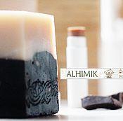 Косметика ручной работы handmade. Livemaster - original item Chocolate soap from scratch, and lip balm in the box. Handmade.