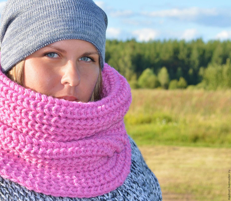 Как связать женский шарф снуд спицами для начинающих 34