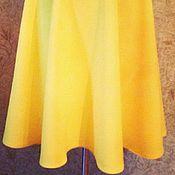 Одежда ручной работы. Ярмарка Мастеров - ручная работа Желтая юбка полусолнце. Handmade.