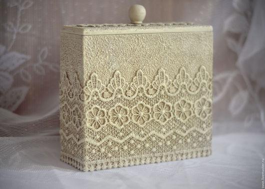 """Кухня ручной работы. Ярмарка Мастеров - ручная работа. Купить Короб  """"Каменное кружево"""". Handmade. Белый, короб для специй"""