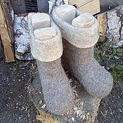 Обувь ручной работы. Ярмарка Мастеров - ручная работа Женские валенки. Handmade.