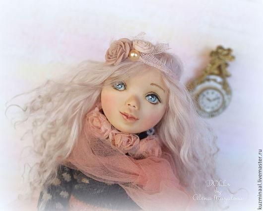 """Человечки ручной работы. Ярмарка Мастеров - ручная работа. Купить """"В мечтах о балете...."""". Handmade. Розовый, коллекционная кукла"""