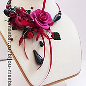 """Украшения ручной работы. Ярмарка Мастеров - ручная работа """"Бордо"""". Handmade."""