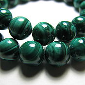 Материалы для творчества handmade. Livemaster - original item Natural malachite beads, African. Zaire, 8 mm light. Handmade.
